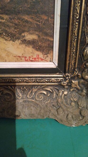 Πωλείται πίνακας με υπογραφή καλλιτέχνη και τη κορνίζα
