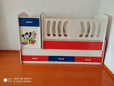 Детский мир - Талас: Детский манеж в хорошем состоянии 2в1 детская кроватка . Кроватка разб