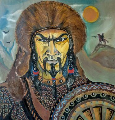детские 2х ярусные кровати фото и цены в Кыргызстан: Продаются большие размером масленные картины, написанные местным худож