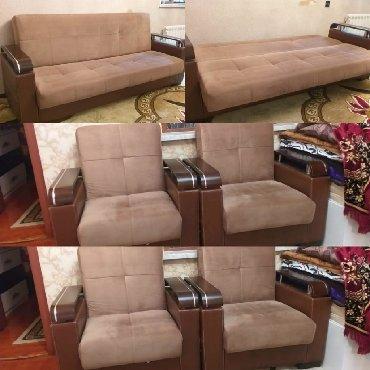 Watsapa yazin 2 kreslo + divan 290 Azn. Divan açılır. Bazalıdır