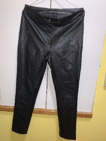 Pantalone-helanke-tamno-borda-bojaa - Srbija: Pantalone- helanke kao kožne. Veličina L