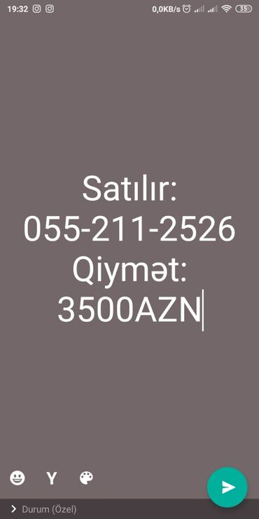 mobil nomreler - Azərbaycan: Mobil nömrə