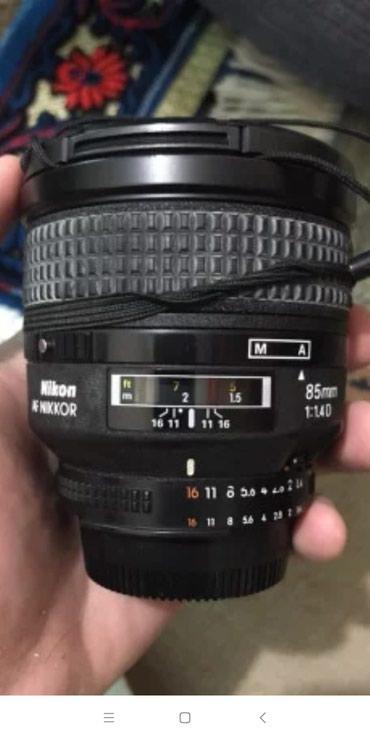 Qusar şəhərində Nikon AF Nikkor 85mm 1:1.4D ela veziyyetde.Hec bir problemi