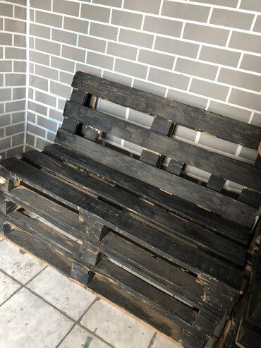 Услуги - Балыкчы: Скамейки (из поддонов)и барные стульчикиВ наличии 6 скамеек