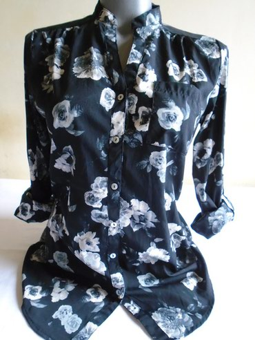 Tanja, kao svilenkasta košuljica sa floralnim printom - belim - Belgrade