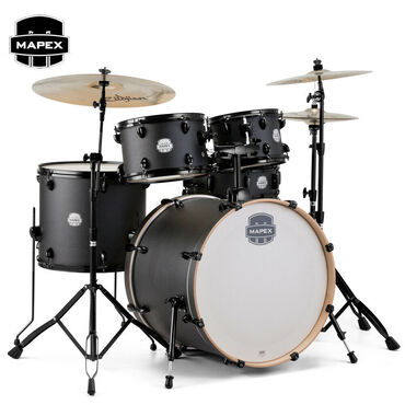 Μουσικά όργανα - Ελλαδα: Mapex STORM Rock Full Size Drum Set Ebony Blue Grain