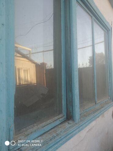 Продам бу дерево двери и окна дёшево двери 4шт окна 7шт