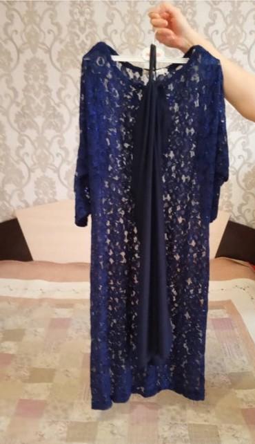 вечернее платье синий цвет в Кыргызстан: Продаю новое платье с подьюбником,сшитое на заказ, размер 48-50, цвет