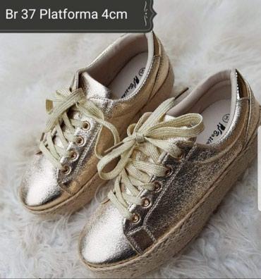 Patika cipela u br 37 obuvena jednom prilikom, visina platforme 4cm, - Trstenik