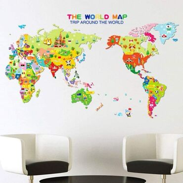 Mapa sveta sa zivotinjama  1,1 m x 0,7 m Cena 950 dinara