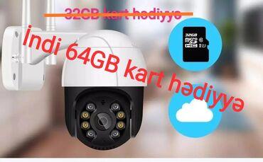 221 elan: İp kamera,Wifi kamera,PTZ.🏙️🌆Çol üçün.💾Heçnəyə ehtiyac yoxdur öz