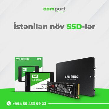 Kompüter və Noutbuk Aksesuarları Azərbaycanda: Butun model noutbuklar ve personal konpyuterler ucun ssd,yaddas