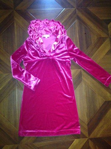 Очень красивое ярко розовое бархотное платье на 4-5 лет в Бишкек