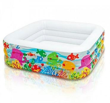 Надувной бассейн для дачи. Такие бассейны практичны, удобны, легко обс