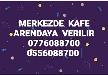 Bakı şəhərində Merkezde Nizami metrosuna yaxin Kafe Arendaya verilir