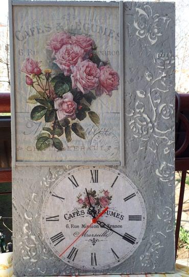 Drveni zidni sat dimenzija 30x50 cm. Pogledajte i moje ostale satove - Vrsac