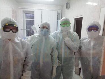 Медицинская одежда - Кыргызстан: Противочумные костюмы с лепучками на клапанах а так же с бахилами в