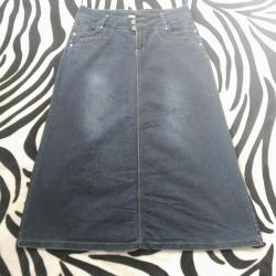 стильную джинсовую юбку в Кыргызстан: Продам джинсовую юбку (Турция 44 размер). Подойдёт на 46-48 размер. В