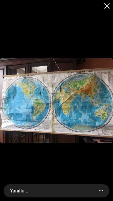 dünya xeritesi - Azərbaycan: Dunyanin fiziki xeritesi  5azn