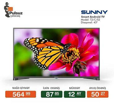sunny - Azərbaycan: Televizor Sunny (108 sm) Smart Android TV Rayonlara və Kirayədə