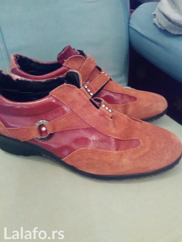 Italijanske cipele 38 preudobne platforma kao nova ,kožne,prevrnuta - Krusevac