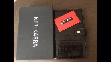 Новая визитница от neri karra, цвет темно коричневый, на 120визиток в Бишкек