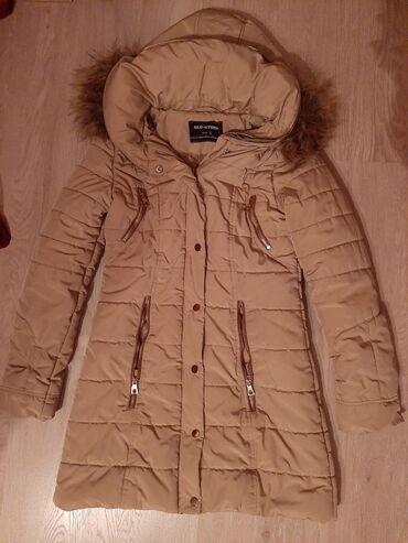 Duga zimska jakna - Srbija: Zimska duga jakna, velicina S moze i M, postavljena sa krznom