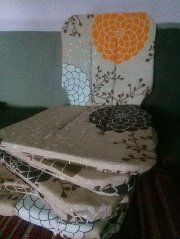 Kućni dekor - Subotica: Jastucici za stolice i garniture s vezivanjem .dimenzije 80*40.za