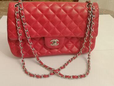 yarasa qadın koftaları - Azərbaycan: Chanel Çanta - Qırmızı çantaChanel red lambskin classic flap bagAAA