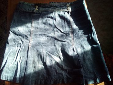 Casa blanca - Srbija: Teksas suknja,marke CASA BLANCA, vel. 40/42,obucena par puta