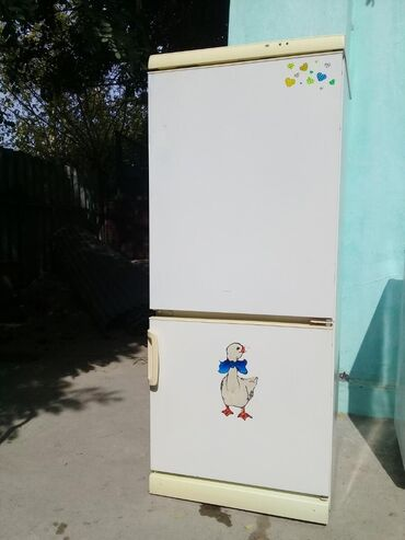Б/у Двухкамерный Белый холодильник Snaige