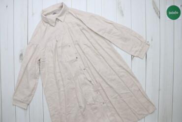 Жіноча лляна сукня-сорочка вільного крою Len    Довжина: 94 см Ширина