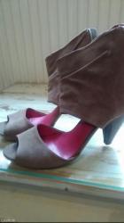 Ženska obuća   Loznica: Italijanske nove ocuvane letnje cizme br 38 kozne ekstra