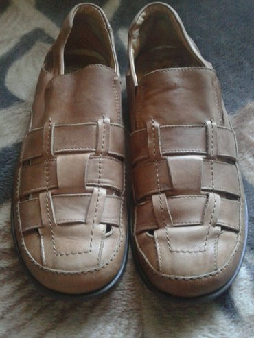 Мужские летние сандали,б/у.Натуральная кожа,размер 44 подайдет на 43