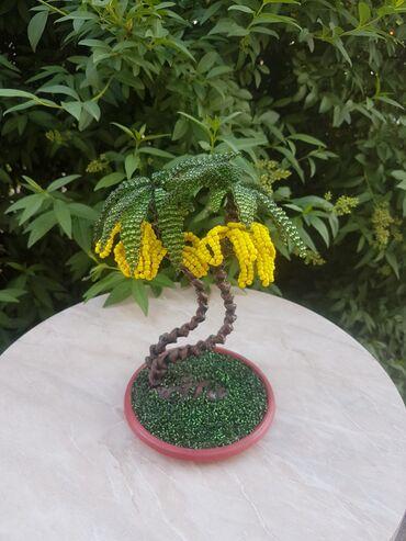 бисера в Кыргызстан: Дерево из бисера - банановая пальма
