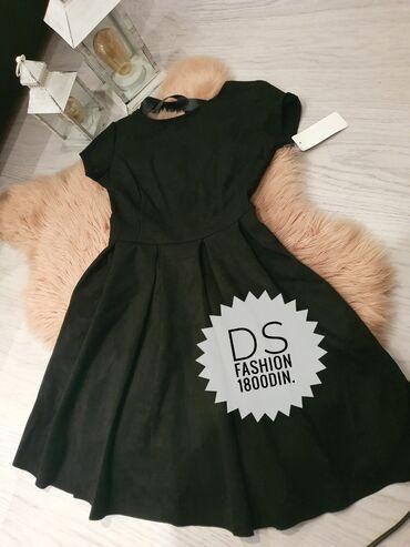 Velur crna haljina, gola ledja ✔✔
