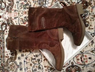 замшевая туфля в Кыргызстан: Сапоги итальянские,деми 32 размера, изнутри кожаные,снаружи замшевые в