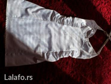 Bela haljina od satena,lepo stoji,uska. kao nova. - Indija