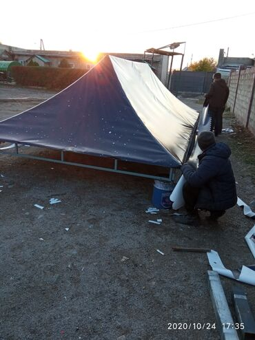 Покупка грузового автомобиля - Кыргызстан: Тент обшивка Бишкек   Навес Шатёр Беседка Грузовой авто
