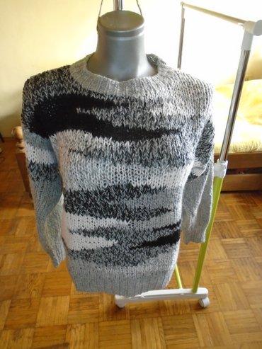 Dzemperić od vunice u nijansama sive i bele, za prelazni period, - Belgrade