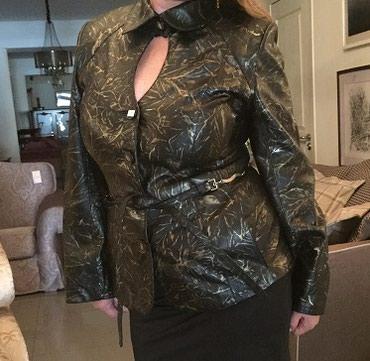 женское платье 52 в Кыргызстан: Одежда Куртка кожаная-Размер 52-50-необычный цвет