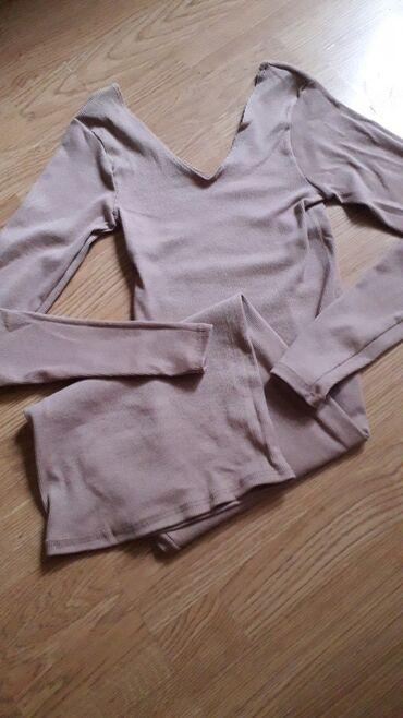 Haljine | Zrenjanin: Nova haljina od rebrastog pamuka,krem boje. Velicina S