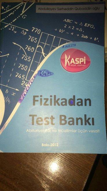 Bakı şəhərində Fizika fenni, test kibati, test banki ve inkisaf dinamikasi