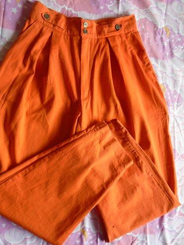 Duboke, vintage pantalone, lepe oranž boje, kupljene u torontu, po - Beograd
