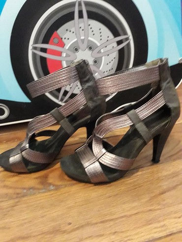Prelepe  braon sandale...broj 38,gaziste 24,visina stikle 10 - Belgrade