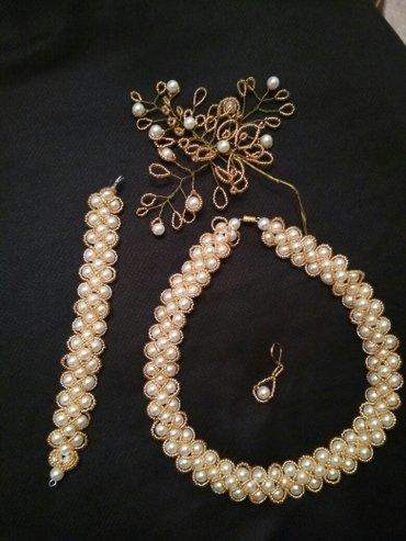 Колье и браслет, серьги 0700575746 Гуля в Бишкек