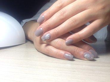 маникюр + наращивание ногтей гелем + в Бишкек
