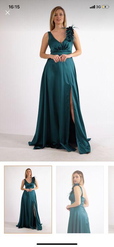 чёрное вечернее платье в пол в Кыргызстан: Вечернее платье новое! 38 размер Турция!