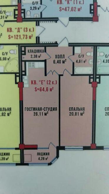 жк восток сити бишкек в Кыргызстан: Продается квартира:Элитка, Моссовет, 2 комнаты, 63 кв. м