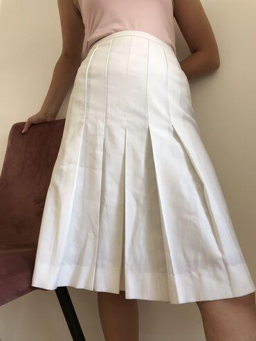 Bela suknja do kolena Velicina 38,40